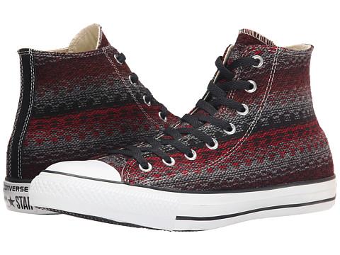 Converse - Chuck Taylor Hi (Fire Brick/Black) Lace Up Cap Toe Shoes