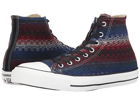 Converse - Chuck Taylor Hi (Black/Casino/Blue) Lace Up Cap Toe Shoes