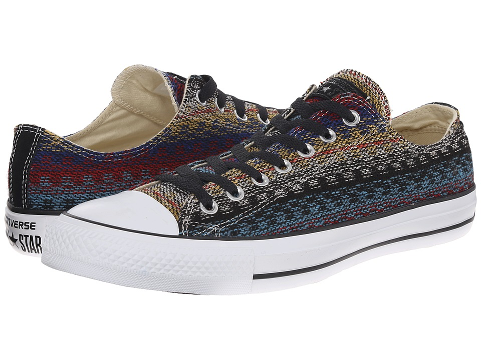Converse - Chuck Taylor Ox (Carnival/Blue) Lace Up Cap Toe Shoes