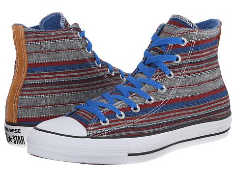 Converse - Chuck Taylor Hi (Blue/Acorn/White) Lace Up Cap Toe Shoes