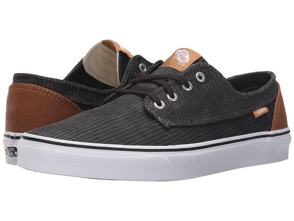 Vans Brigata ((Washed Herringbone) Jet Black) Skate Shoes
