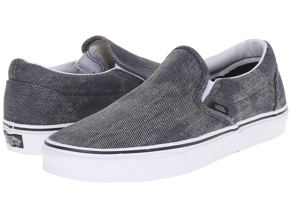 Vans - Classic Slip-On ((Acid Denim) Navy/Black) Skate Shoes