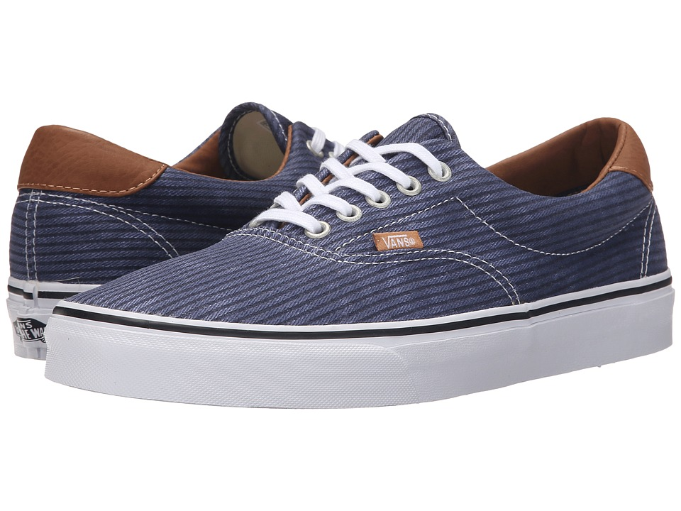 Vans - Era 59 ((Washed Herringbone) Navy) Skate Shoes
