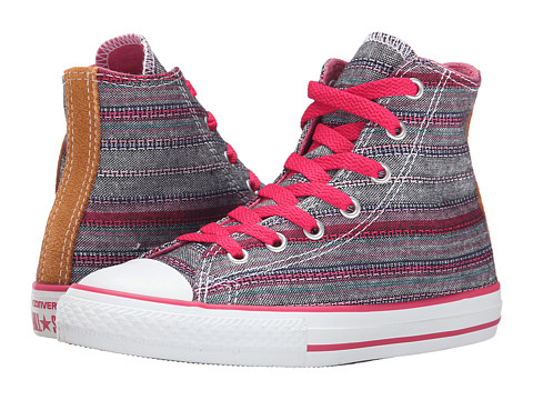 Converse Kids - Chuck Taylor Hi (Little Kid/Big Kid) (Pink/Black/White) Kids Shoes