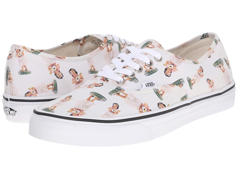 Vans Authentic ((Digi Hula) Classic White/True White) Skate Shoes