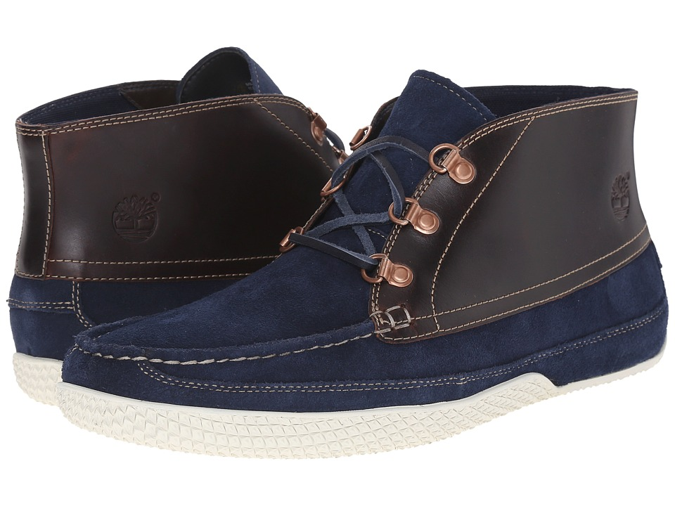 Timberland - Camp 73 Chukka (Navy Nubuck/Brown Full-Grain) Men