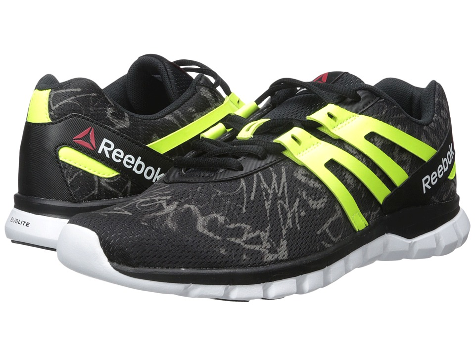 Reebok - Sublite XT Cushion MT (Black/Shark/Solar Yellow/White) Men's Cross Training Shoes