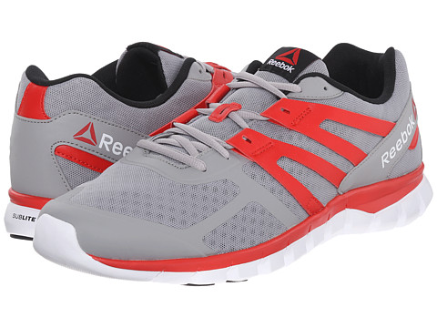 Reebok - Sublite XT Cushion MT (Tin Grey/Motor Red/White/Black) Men