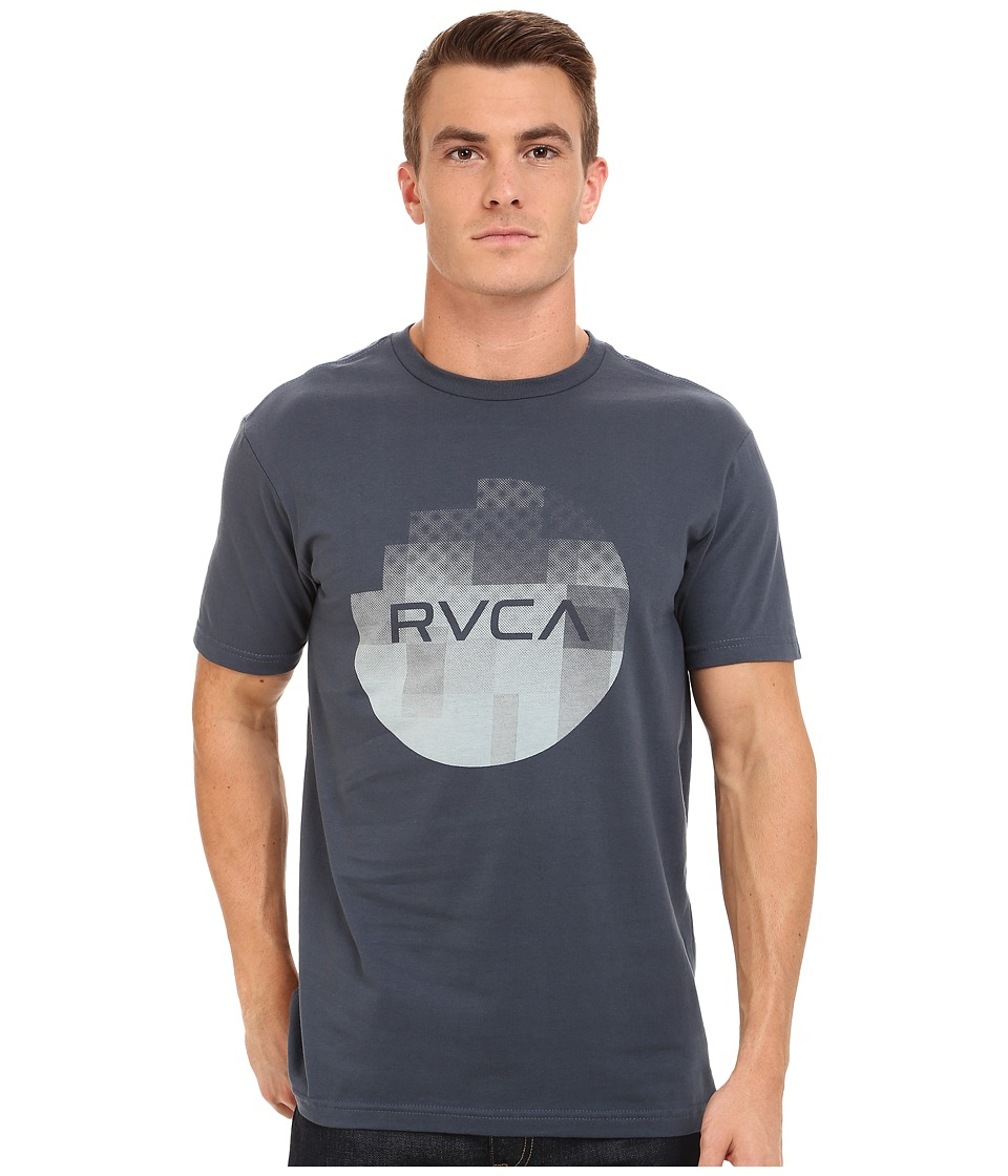 RVCA - Halftone Fade Tee (Midnight) Men's T Shirt