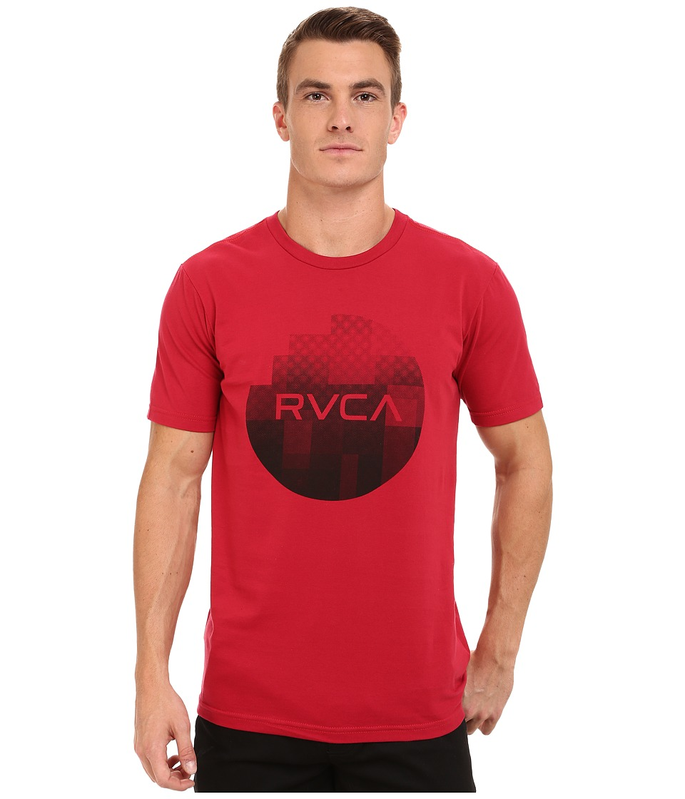 RVCA - Halftone Fade Tee (Red) Men's T Shirt