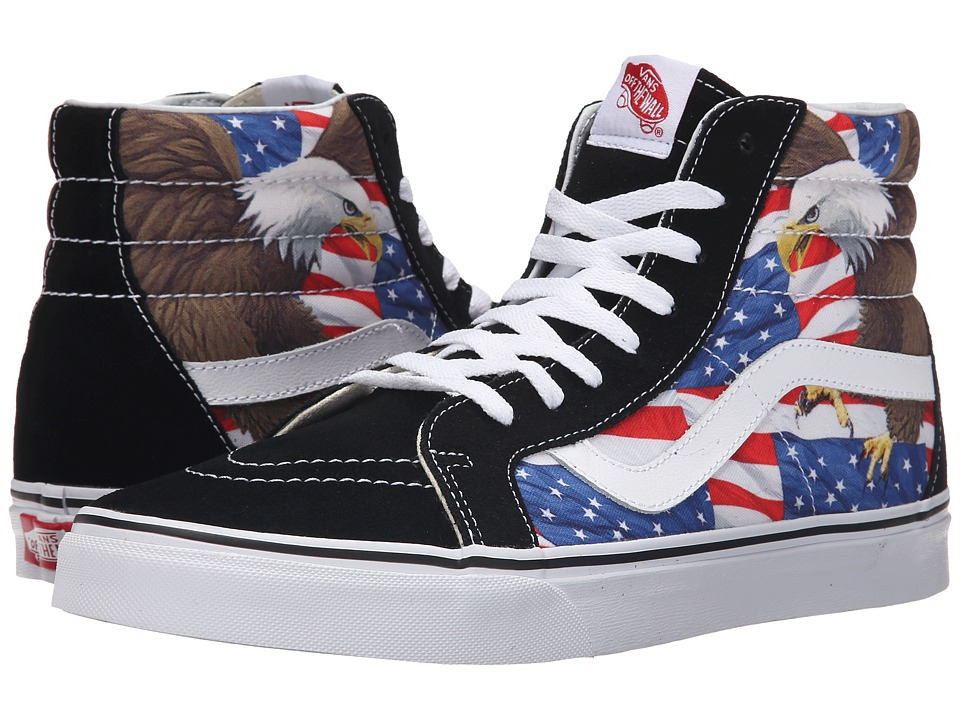 Vans SK8-Hi Reissue ((Free Bird) Black/True White) Skate Shoes