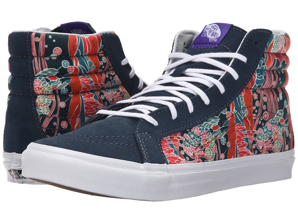 Vans - SK8-Hi Slim ((Liberty) Sea Floral/True White) Skate Shoes