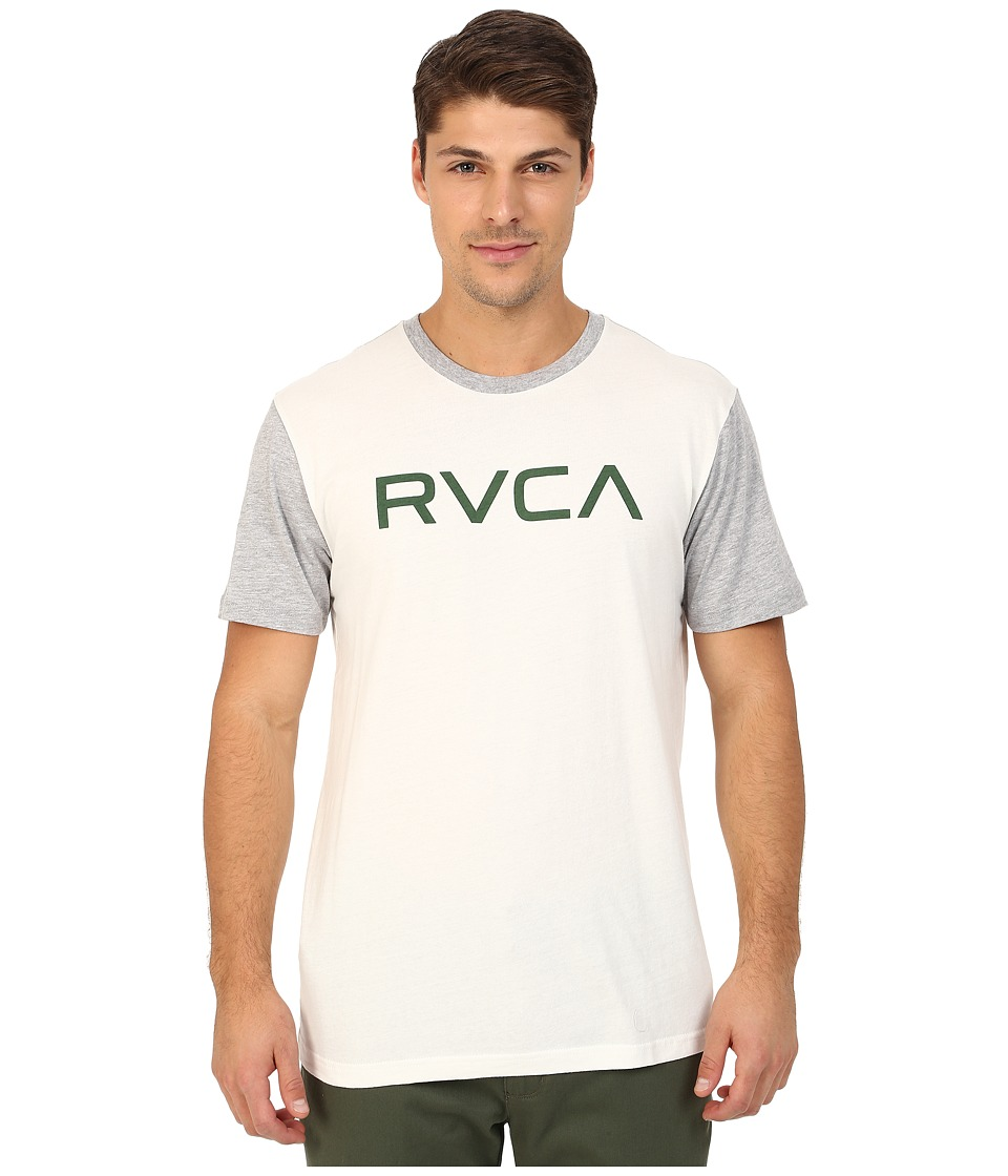 RVCA - Big RVCA Baseball Tee (Vintage White/Athletic Heather) Men's T Shirt