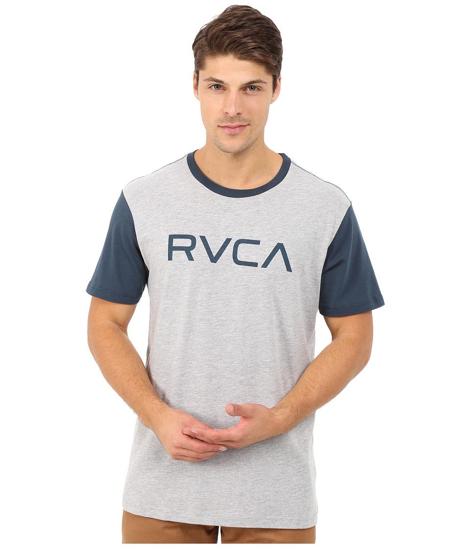 RVCA - Big RVCA Baseball Tee (Athletic Heather/Midnight) Men