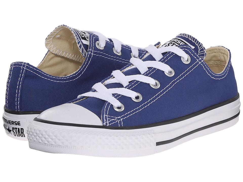 Converse Kids Chuck Taylor All Star Ox (Little Kid) (Roadtrip Blue) Kids Shoes