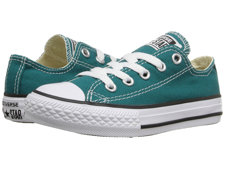 Converse Kids - Chuck Taylor All Star Ox (Little Kid) (Rebel Teal) Kids Shoes