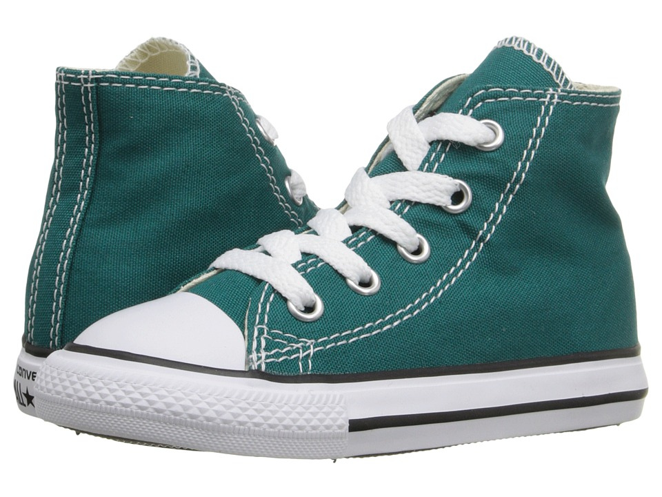 Converse Kids Chuck Taylor All Star Hi (Infant/Toddler) (Rebel Teal) Kids Shoes