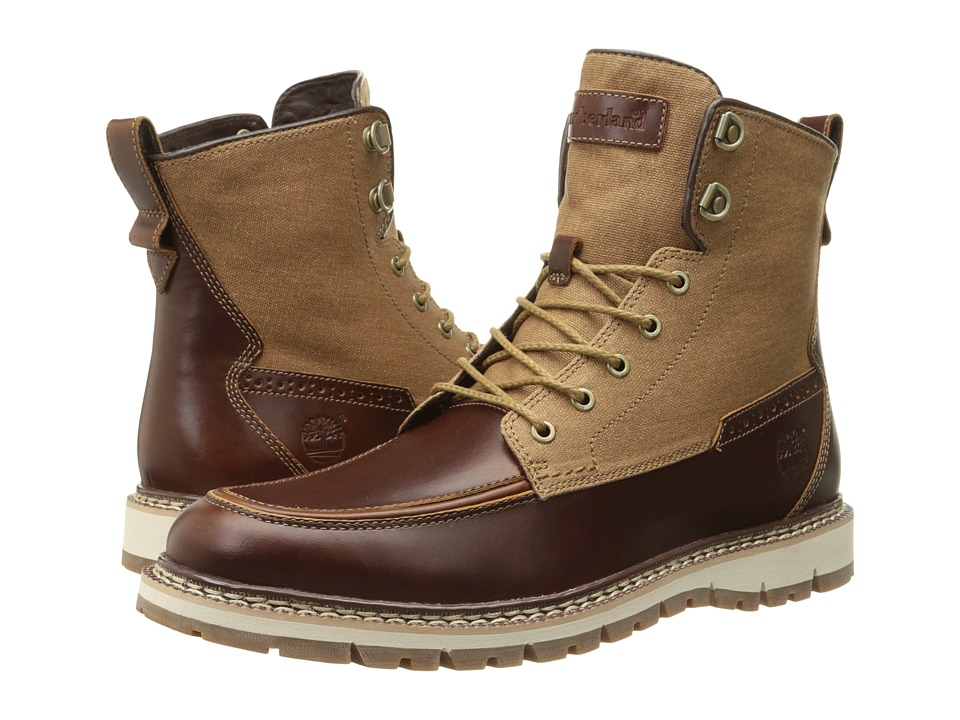 Timberland - Britton Hill Boot (Medium Brown Full-Grain/Wax Canvas) Men's Lace-up Boots