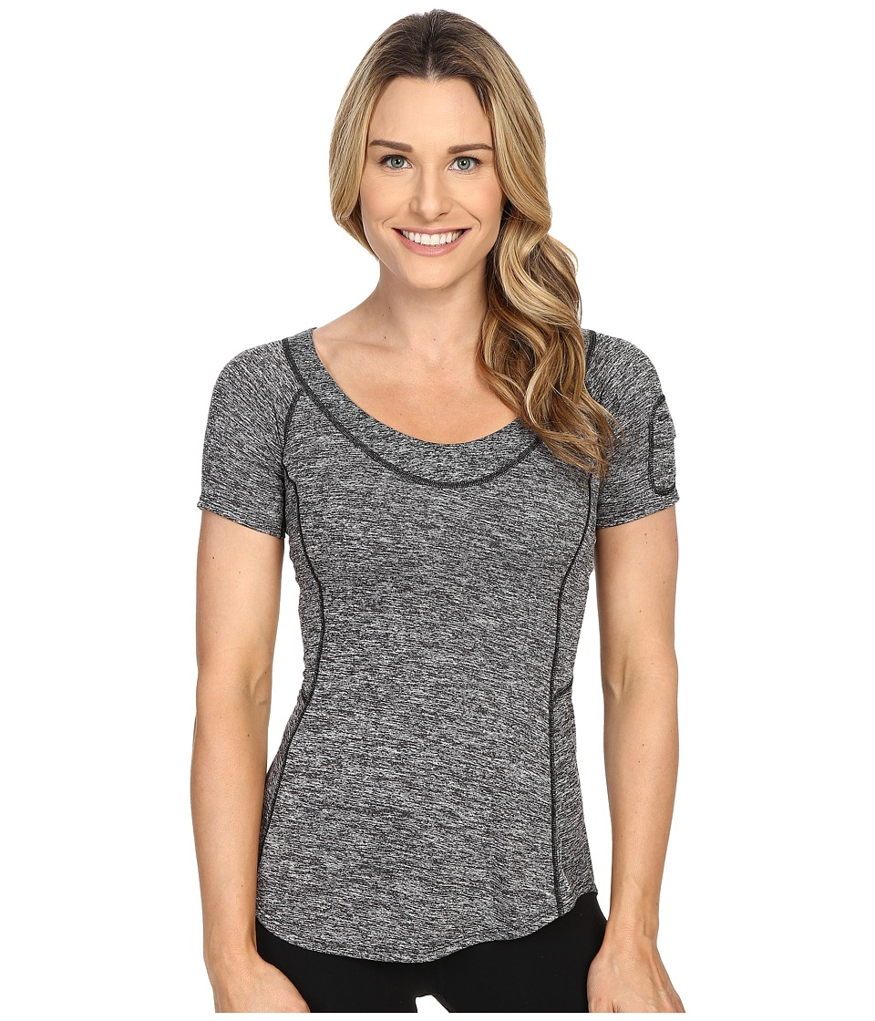 Merrell - Helio Tee 2.0 (Black Heather) Women's Short Sleeve Pullover