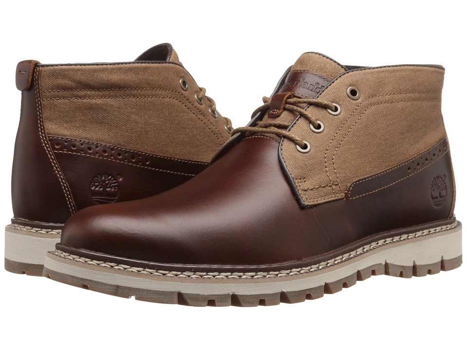 Timberland - Britton Hill Chukka (Medium Brown Full-Grain/Wax Canvas) Men's Lace-up Boots