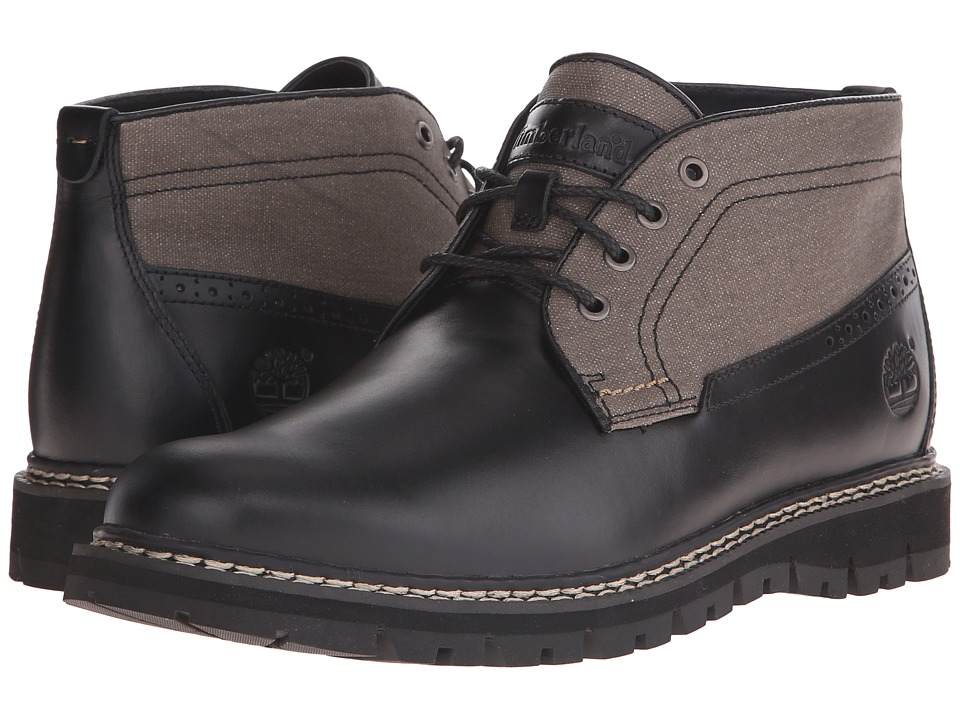 Timberland - Britton Hill Chukka (Black Full-Grain/Wax Canvas) Men's Lace-up Boots