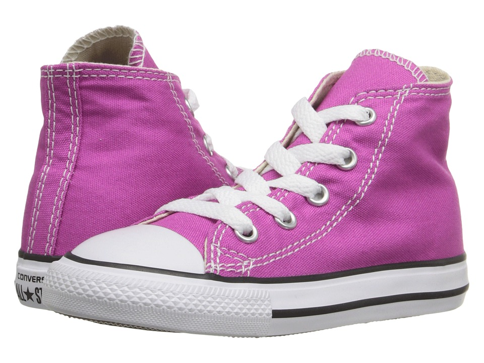 Converse Kids - Chuck Taylor All Star Hi (Infant/Toddler) (Plastic Pink) Girls Shoes