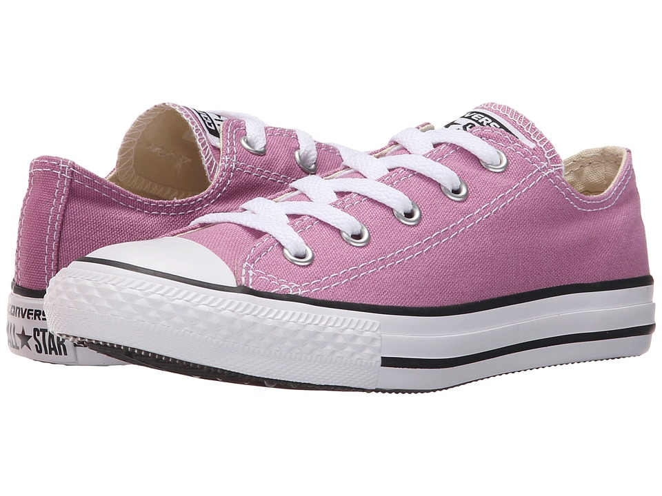 Converse Kids - Chuck Taylor All Star Ox (Little Kid) (Powder Purple) Girls Shoes