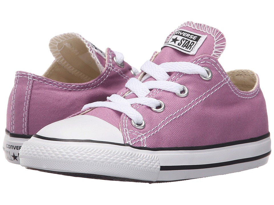 Converse Kids - Chuck Taylor All Star Ox (Infant/Toddler) (Powder Purple) Girls Shoes