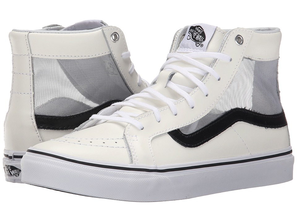 Vans - SK8-Hi Slim Cutout ((Mesh) White/Black) Shoes