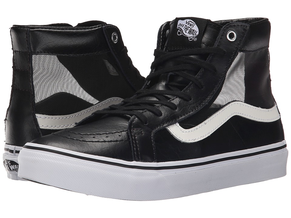 Vans - SK8-Hi Slim Cutout ((Mesh) Black/White) Shoes