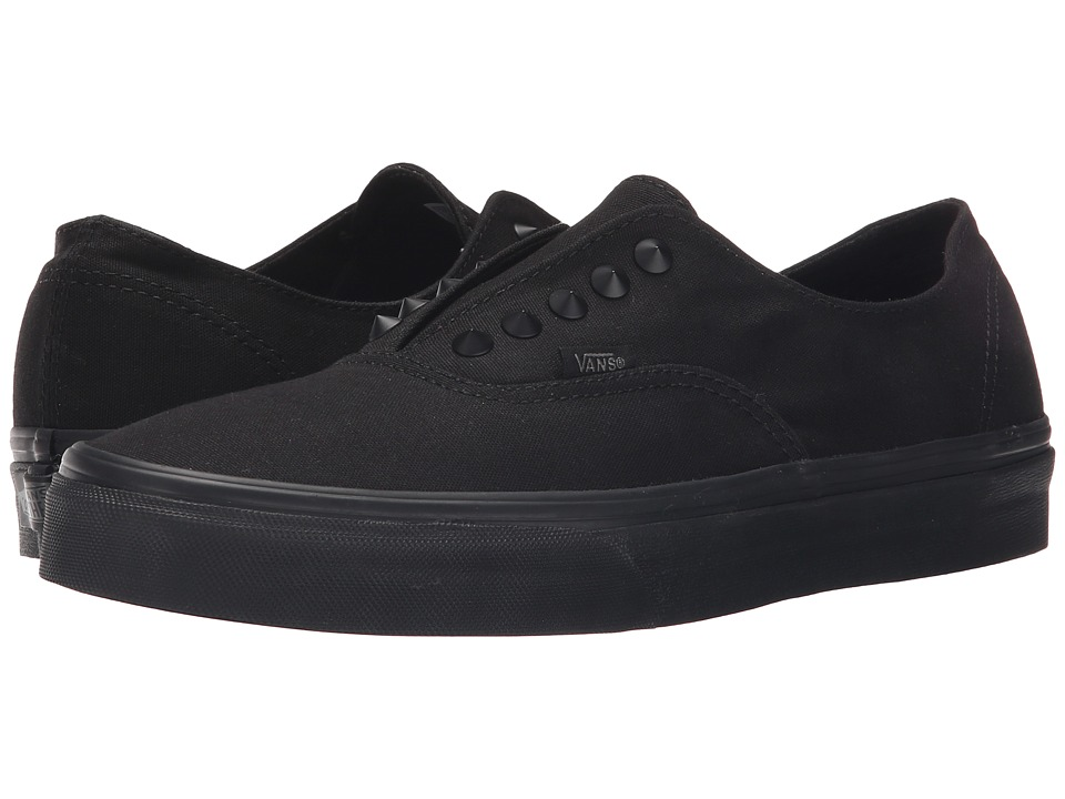 Vans - Authentic Gore ((Studs) Black/Black) Skate Shoes