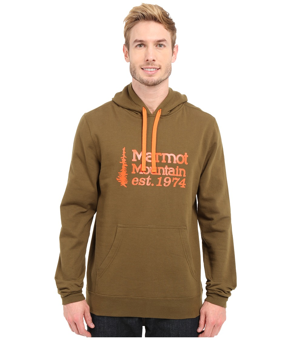 Marmot - 74 Hoodie (Dark Olive) Men's Sweatshirt