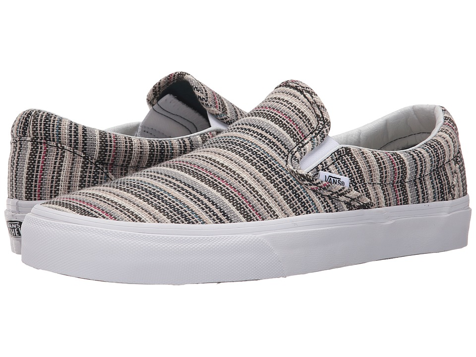 Vans - Classic Slip-On ((Textile Stripes) Balsam/True White) Skate Shoes