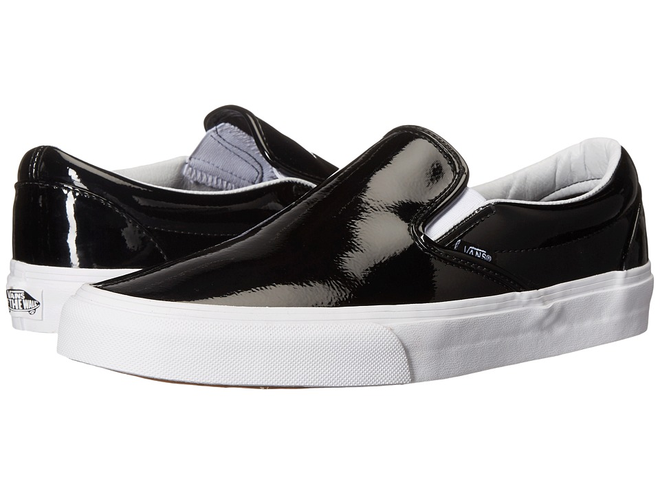 Vans - Classic Slip-On ((Tumble Patent) Black) Skate Shoes