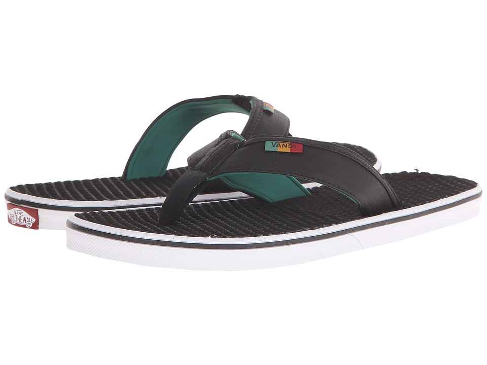 Vans - La Costa ((Rasta) Black/Black) Men's Sandals
