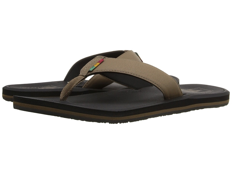 Vans - Nexpa Synthetic ((Rasta) Shitake/Black) Men's Sandals