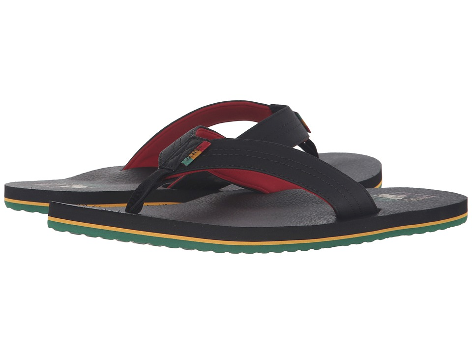 Vans - Nexpa Lite ((Rasta) Black/Chili Pepper) Men's Sandals