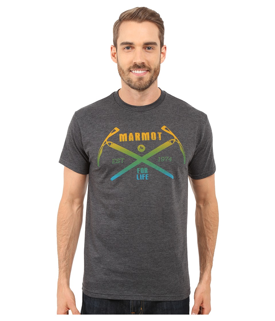 Marmot Ascend Short Sleeve Tee (Charcoal Heather) Men