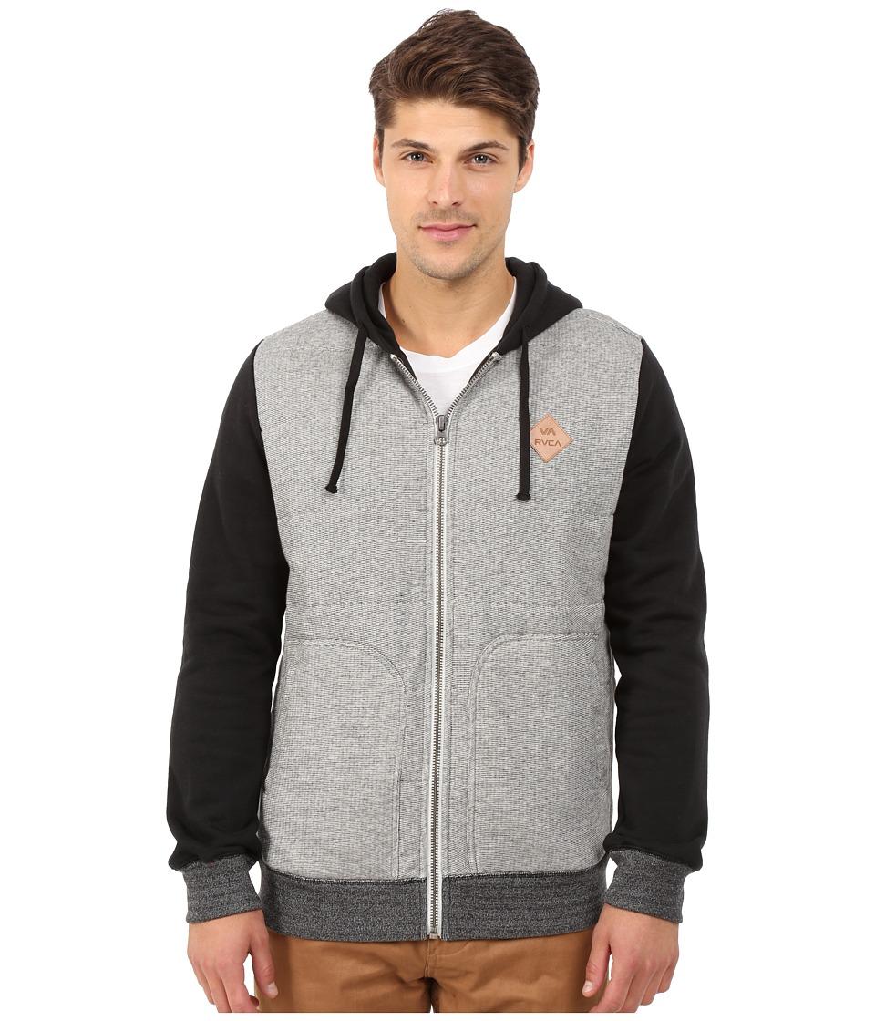 RVCA - Gothard Quilt Fleece (Grey) Men