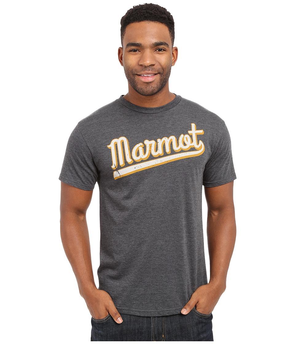 Marmot - Field Short Sleeve Tee (Charcoal Heather) Men's T Shirt