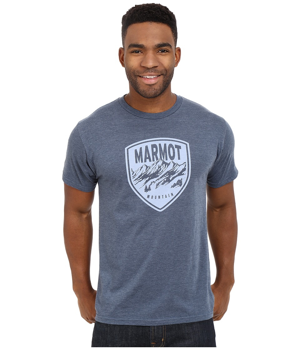 Marmot - Vista Tee S/S (Navy Heather) Men's Short Sleeve Pullover