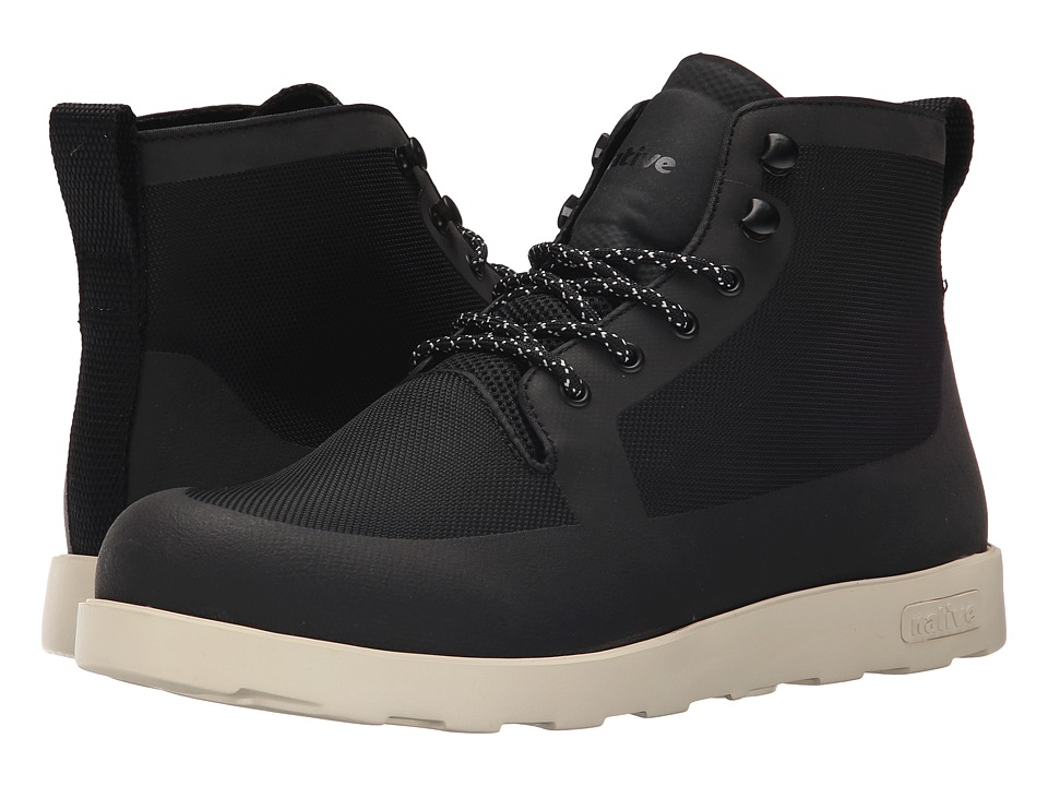Native Shoes - Fitzroy (Jiffy Black/Bone White) Lace-up Boots