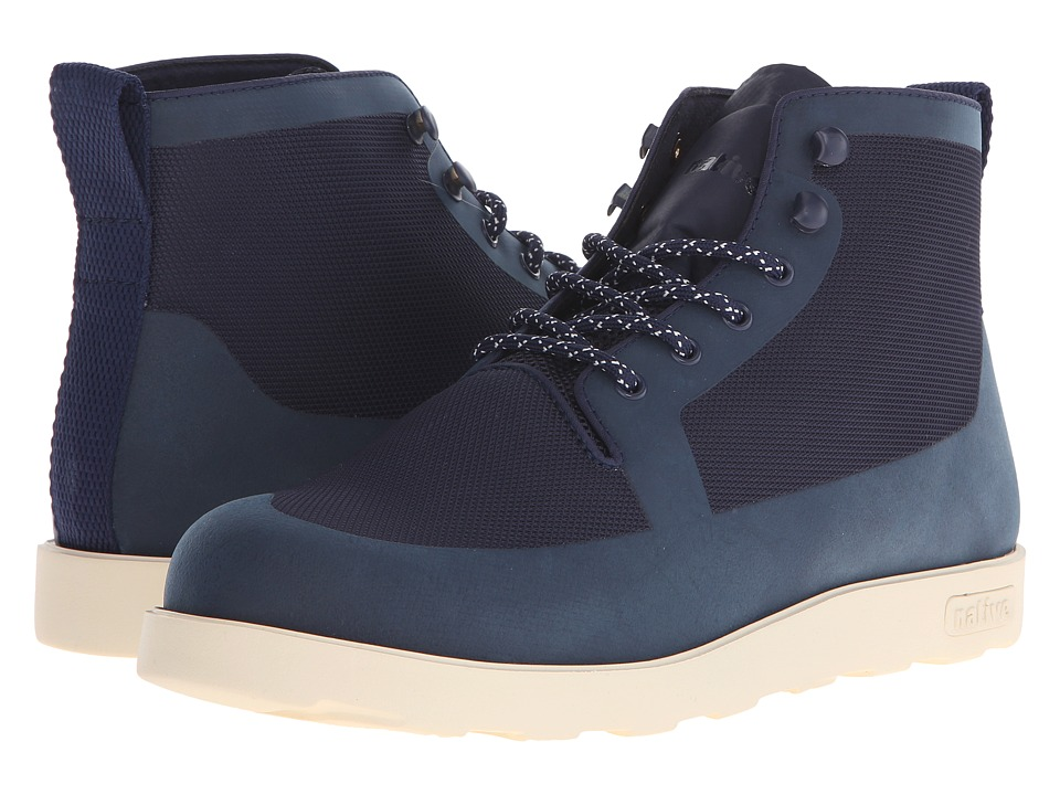 Native Shoes - Fitzroy (Regatta Blue/Bone White) Lace-up Boots