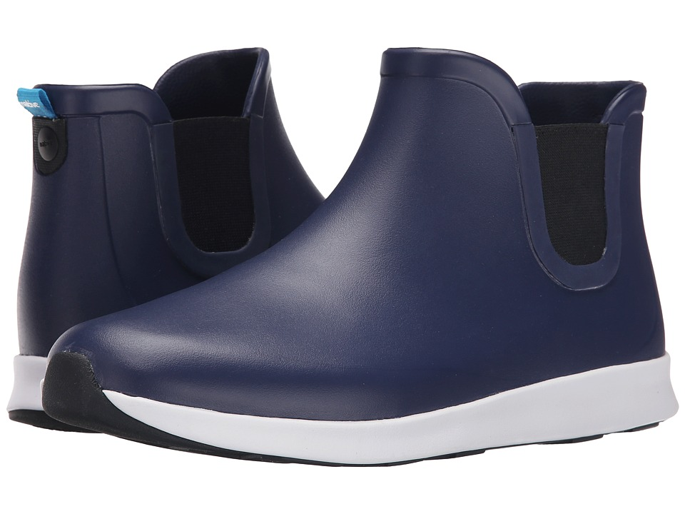 Native Shoes - Apollo Rain (Regatta Blue/Shell White/Jiffy Black Rubber) Rain Boots