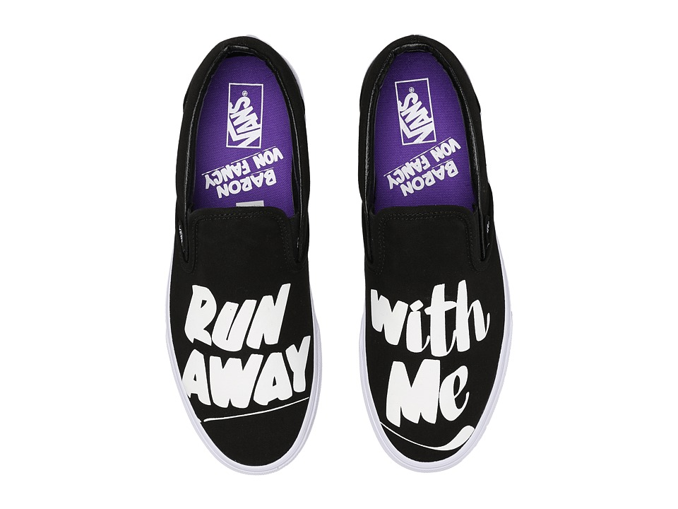 Vans - Classic Slip-On ((Baron Von Fancy) Black/White) Skate Shoes