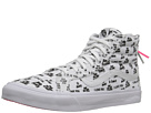 SK8-Hi Slim Zip ((Baron Von Fancy) White/Black) Skate Shoes