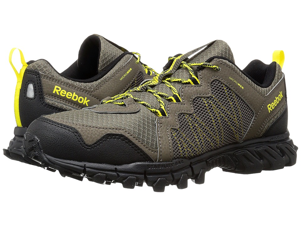 Reebok - Trailgrip RS 4.0 (Cliff Stone/Black/Coal/Yellow Spark) Men's Cross Training Shoes