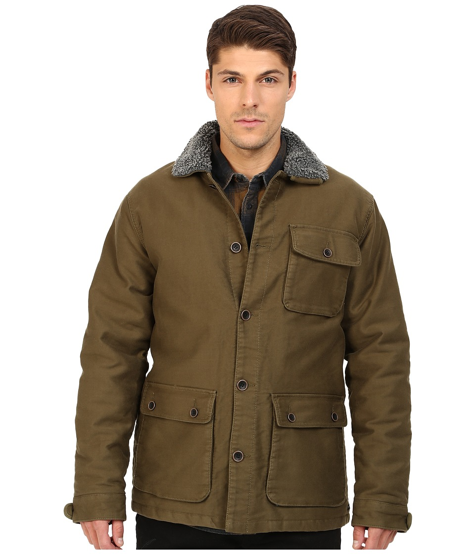 RVCA - Harding Jacket (Dark Olive) Men's Coat