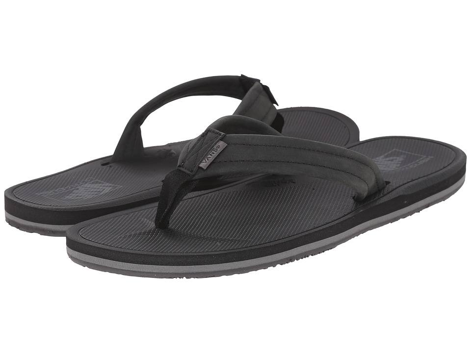 Vans - Nexpa Leather (Black/Pewter) Men's Sandals