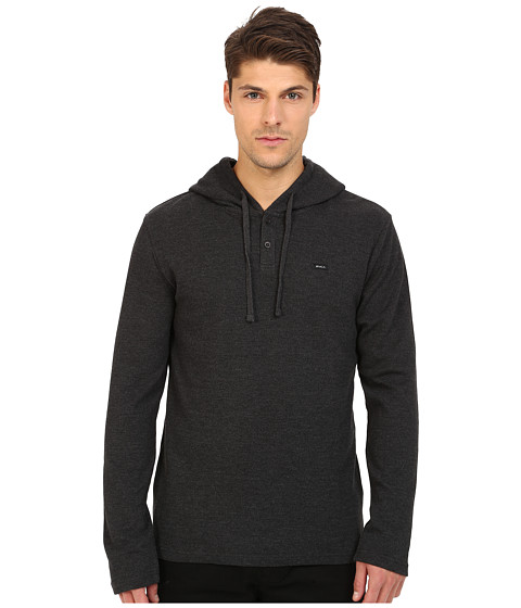 RVCA - Thomas Hoodie (Charcoal Heather) Men's Sweatshirt